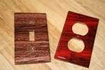 Brown and Red Wood Grain